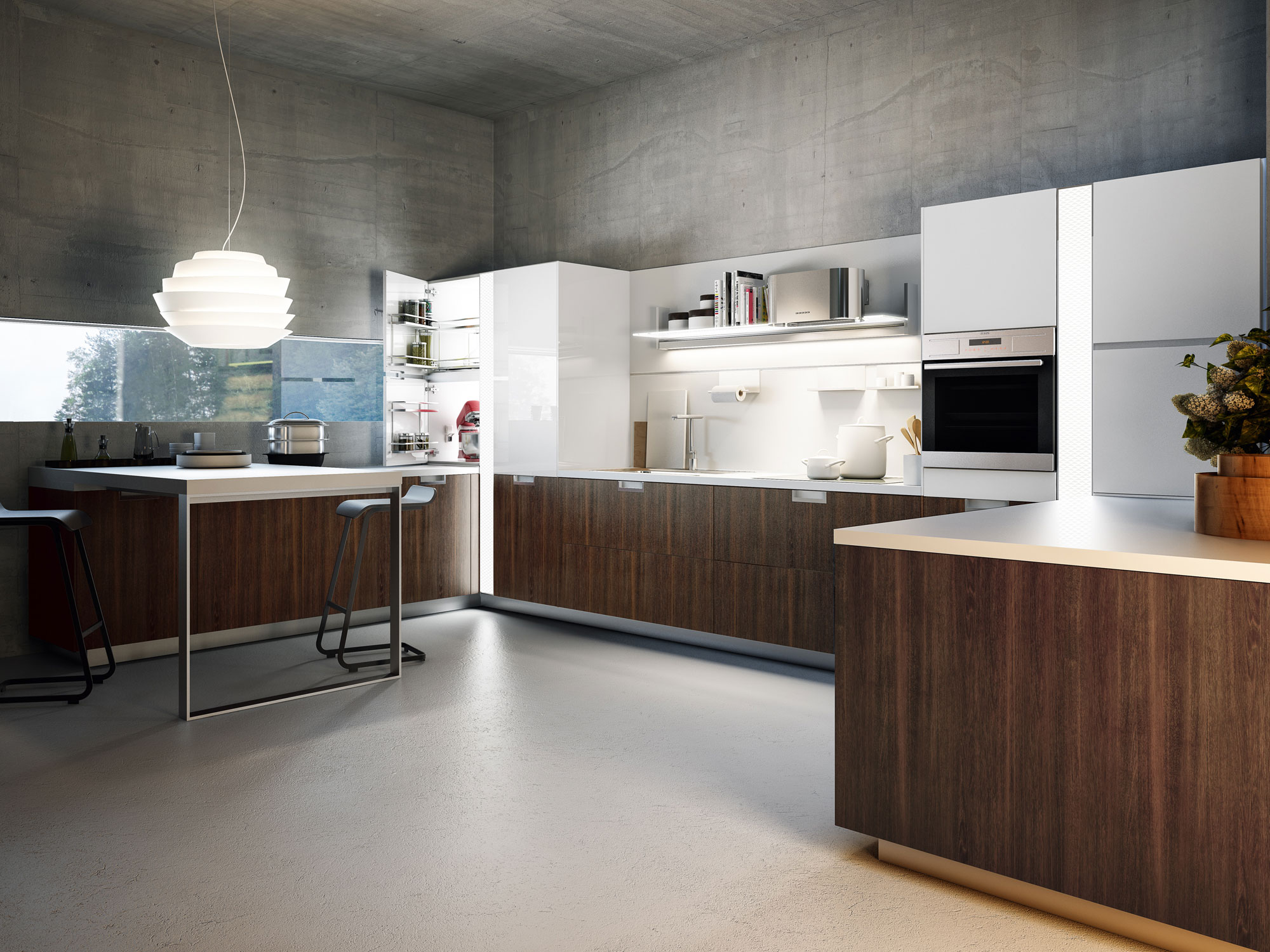 Lux embodies transitional style snaidero for Snaidero cucine moderne